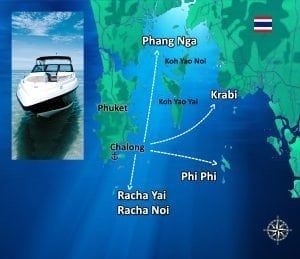 PHUKET MAP THE ISLANDS - Searunnerspeedboat.com