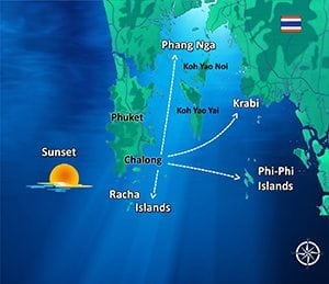 Map Sunset Searunnerspeedboat Phuket